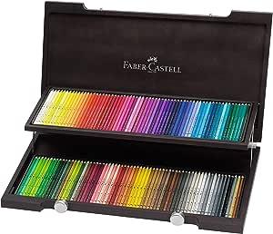 Faber-Castell 117513 - Estuche de madera con 120 ecolápices acuarelables, multicolor: Amazon.es: Oficina y papelería