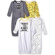 Gerber Baby Boys' 4-Pack Gown, Star, Preemie
