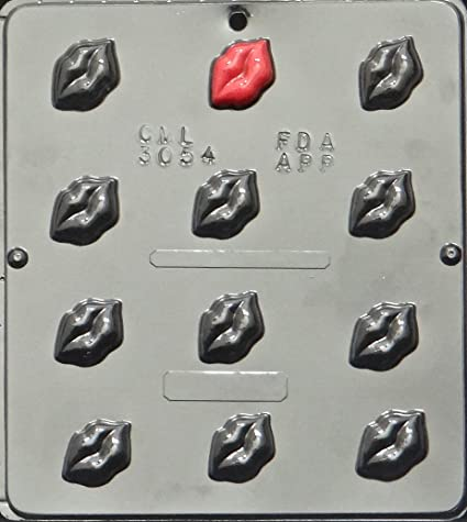 Amazon Com Lips Chocolate Candy Mold Valentines Day 3054 Candy