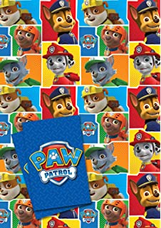Official Paw Patrol 2 Sheet And Tag Gift Wrap Pack