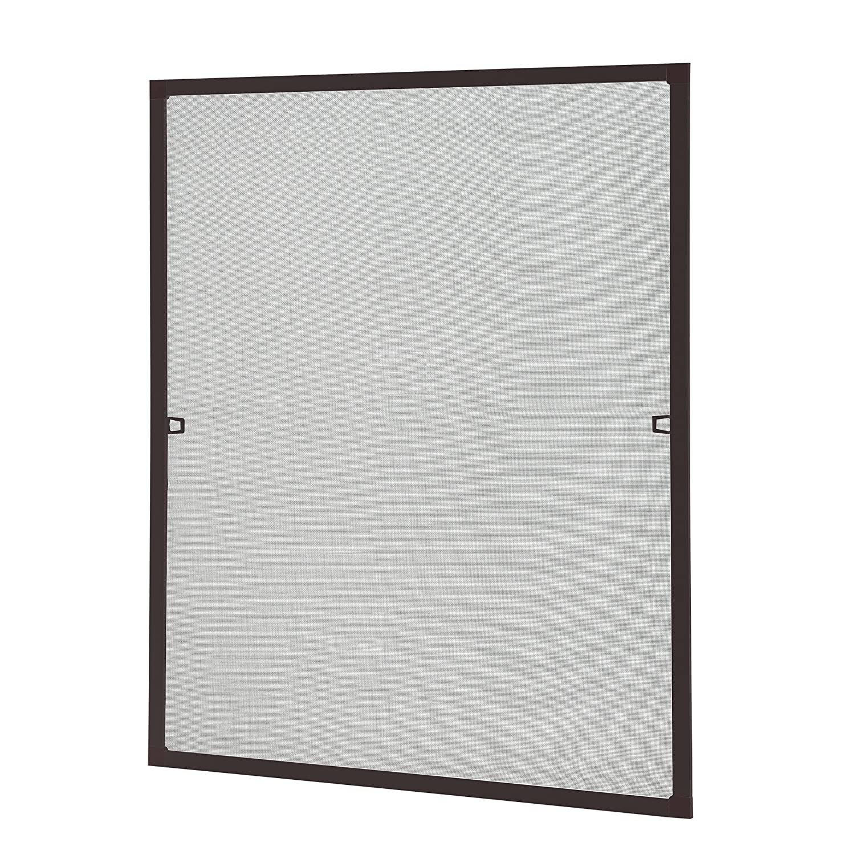 [casa.pro] Mosquitera con marco 80x100 cm marrón - acortable - para ventana - protección contra insectos - no necesita atornillar ni agujerear: Amazon.es: ...