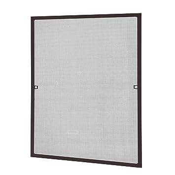 [casa.pro] Mosquitera con marco 120x140 cm marrón - acortable - para ventana - protección contra insectos - no necesita atornillar ni agujerear: Amazon.es: ...