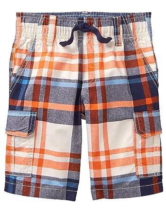 58f0671708 Amazon.com: Gymboree Boys' Drawstring Plaid Cargo Shorts: Clothing