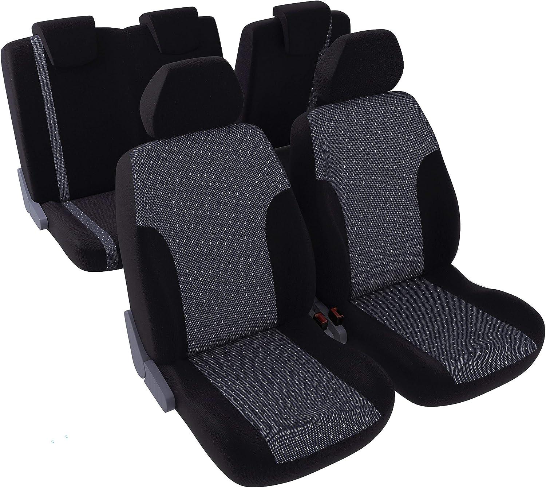 Coprisedili Veicolo//Auto Bianco 2 sedili Anteriori DBS Nero Antiscivolo- Lavabile Universale