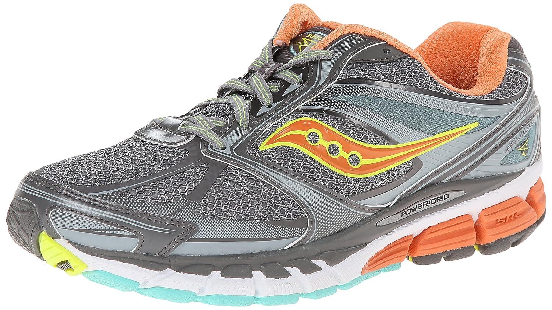 Saucony Women's Guide 8 Running Shoe B00KPTYZ4S 5 B(M) US|Grey/Sunset/Citron