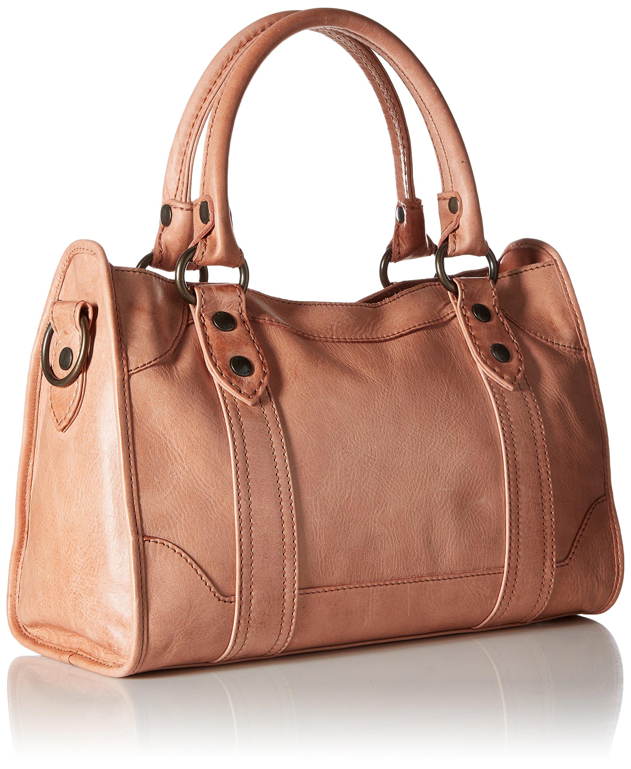 FRYE Melissa Zip Satchel Leather Handbag, dusty rose by FRYE (Image #2)