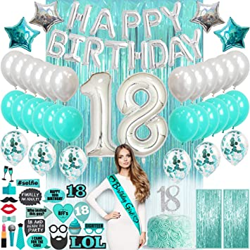 18th Birthday Decorations| 18th Birthday Gifts for Girls
