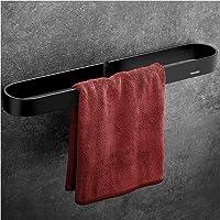 Wangel Handdoekstang, handdoekhouder zonder boren, 40 cm, handdoekring, gepatenteerde lijm + zelfklevende lijm…
