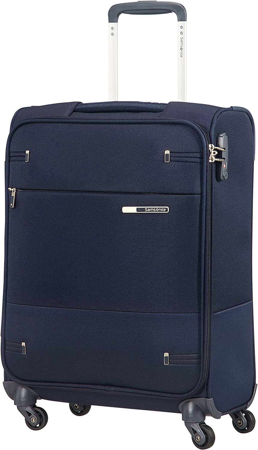 Samsonite Base Boost Spinner S Equipaje de mano, 55 cm, 39 L, Ancho: 40 cm, Azul (Navy Blue)