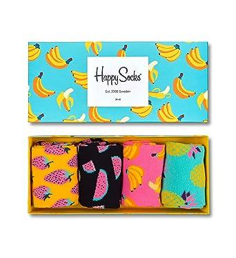 Happy Socks Fruit Socks Gift Box Turquoise,Yellow 10-13