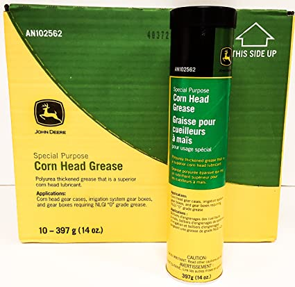 John Deere Polyurea Thickened Corn Head Gear Box Grease Lubricant (CASE of  10 TUBES) AN102562