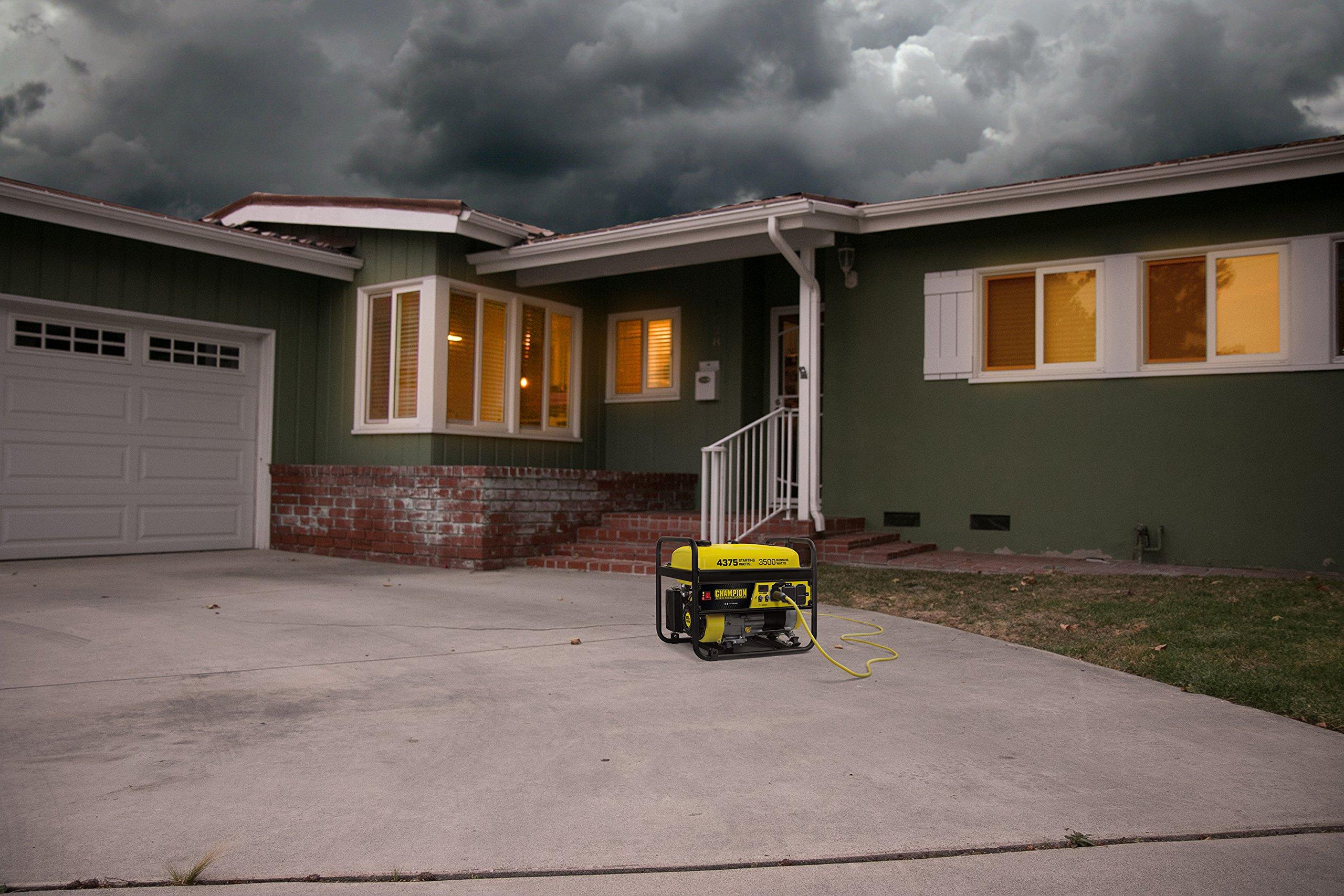Champion Power Equipment 100555 RV Ready Portable Generator, Yellow and Black by Champion Power Equipment (Image #2)
