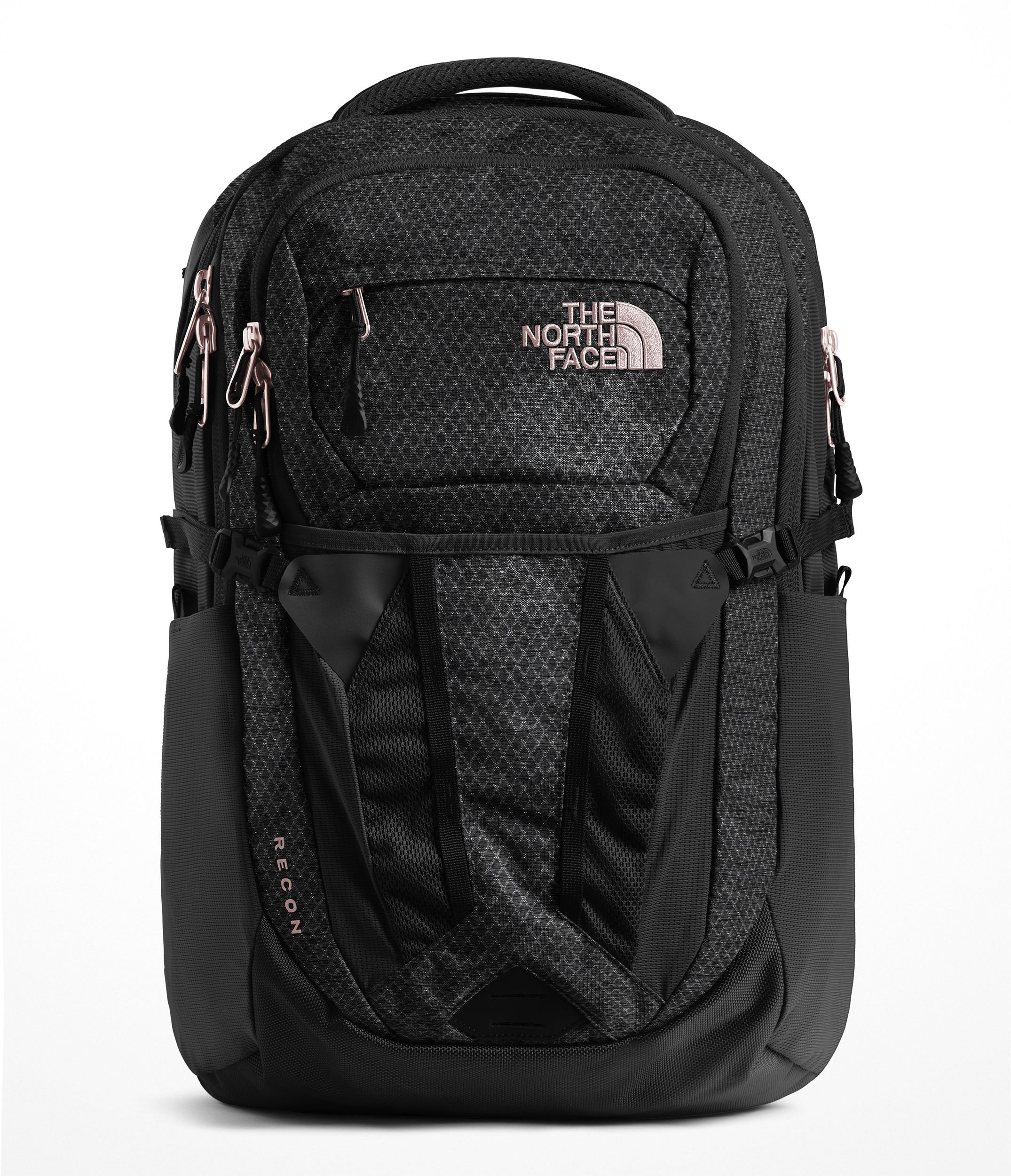 The North Face Women's Recon - TNF Black Heather & Burnt Coral Metallic - OS