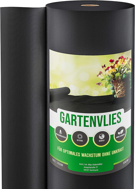 50g//m² Gartenvlies Unkrautvlies Unkraut Unkrautschutz Vlies 1,10 x 50m