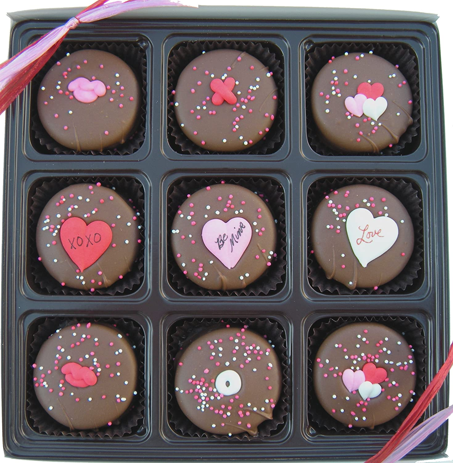 amazoncom valentines day gift box of 9 milk chocolate oreo cookies gourmet chocolate gifts grocery gourmet food