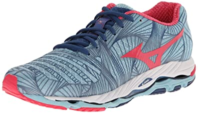 Women Mizuno Wave Paradox'Running Shoes' Porcelain Blue/Rouge Red/Dark Blue Model UK1016