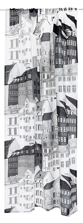Vallila Kobenhavn Classic Vorhang 140x250 cm, Grau, Baumwoll-Mischgewebe, 250x140x250 cm