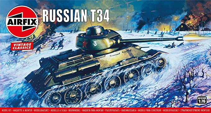 Amazon.com: Airfix Russian T34 Medium Tank 1:76 Vintage ...