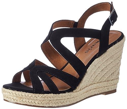 Tamaris Damen 28342 Offene Sandalen mit Keilabsatz