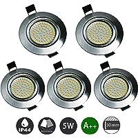 Foco Empotrable LED 5W Blanco Cálido 3000K Ultrafino