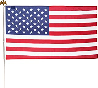 product image for Valley Forge Flag US1-1 Residential Kit w/ 3' x 5' US, Steel Pole, red, White & Blue Flag, Steel Bracket