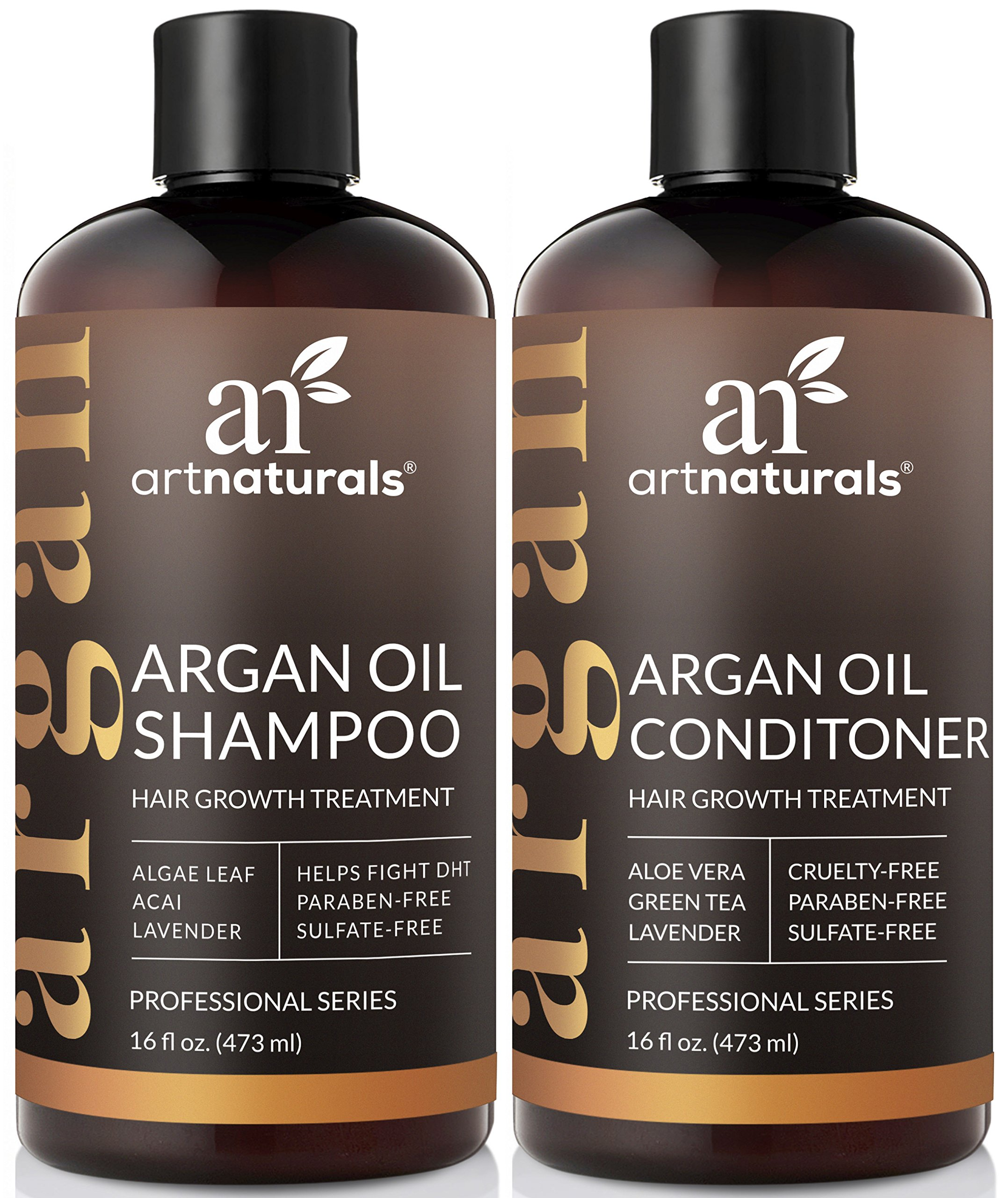ArtNaturals Moroccan Argan Oil Hair Loss Shampoo & Conditioner Set - Hair Regrowth (2x16Oz) Sulfate Free- Treatment for Hair Loss, Thinning Hair & Hair Growth, Men & Women- Made W/Organic Ingredients by ArtNaturals