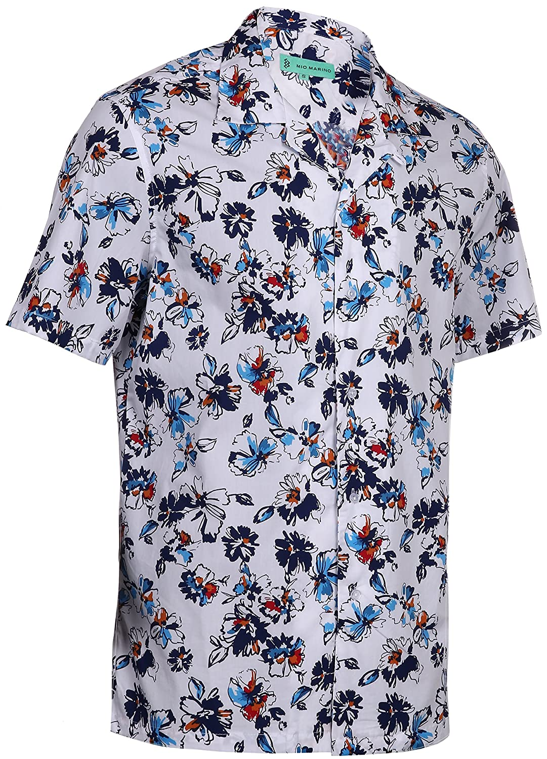 1c9cdf781 Mio Marino Mens Hawaiian Shirt - Funky Floral Shirt for Men - Short Sleeve Aloha  Shirt at Amazon Men's Clothing store: