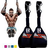 RIMSports Ab Straps for Pull Up Bar - Premium Pull Up Straps & Hanging Ab Straps for Core Workouts - Ideal Hanging Straps & Ab Hancer for Leg Raises, Knee Ups & Ab Workouts