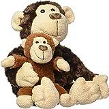 GUND Monkey&baby温情母子猴毛绒玩具-高14英寸(36cm)(亚马逊进口直采,美国品牌)