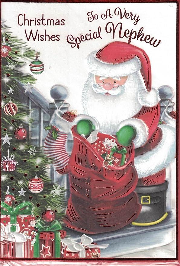 Neffe Weihnachtskarte, Aufschrift \