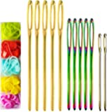 A Case of 12 Pcs Muti-Color Large-Eye Blunt Needles + 60 Pcs Lock Markers (tapestry / darning / finishing needles)