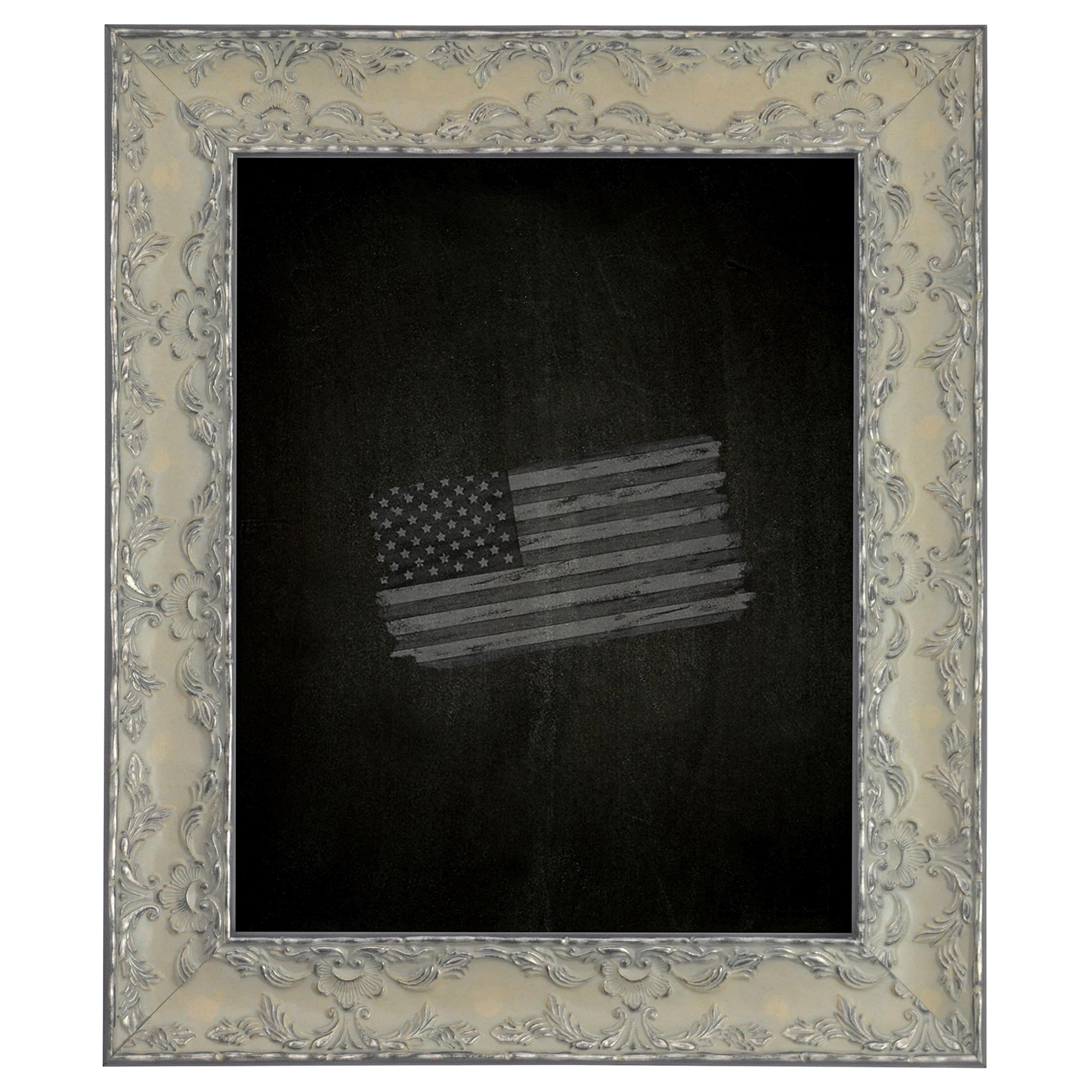 Rayne Mirrors American Made Rayne Maclaren Pewter Blackboard/ Chalkboard Exterior Size: 30 x 66 by Rayne Mirrors
