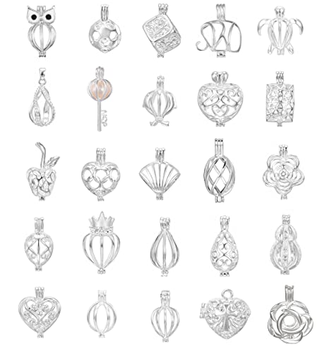 10pcs mix jewelry making supplies silver plated bead cage pendant 10pcs mix jewelry making supplies silver plated bead cage pendant add your own pearls mozeypictures Images