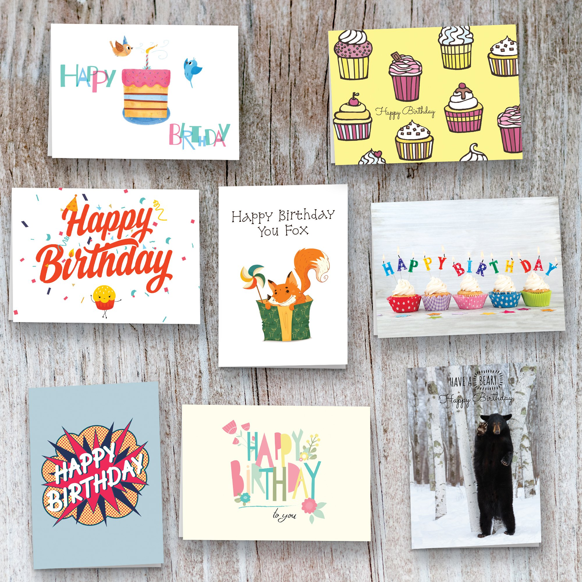 40 Birthday Cards Assortment AEUR Happy Card Bulk Box Sets For Women And Men Children Adults