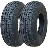 2 New Premium Grand Ride Trailer Tires ST 185/80R13 8PR Load Range D -