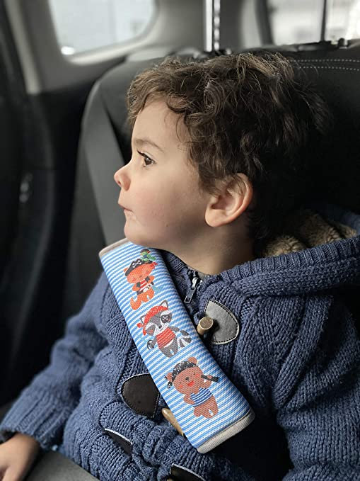 Heckbo 1x Auto Gurtschutz Mit Piraten Tieren Sicherheitsgurt Schulterpolster Schulterkissen Gurtschoner Autositze Gurtpolster Für Kinder Jungen Mädchen Schutz Vor Einschneiden Des Gurtes Baby