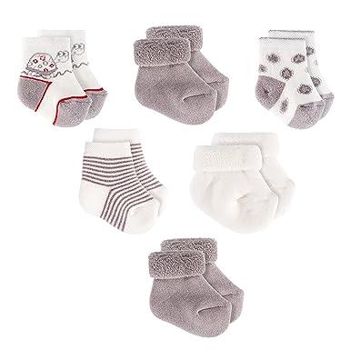 7f9f63bb0393c Jacobs Chaussettes bébé lot de 6 paires Chaussettes naissance bébé en coton  Taille 0 à 3