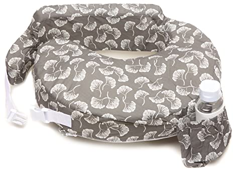 Zenoff Products My Brest Friend Nursing Pillow, Flowing Fans, Grey, White