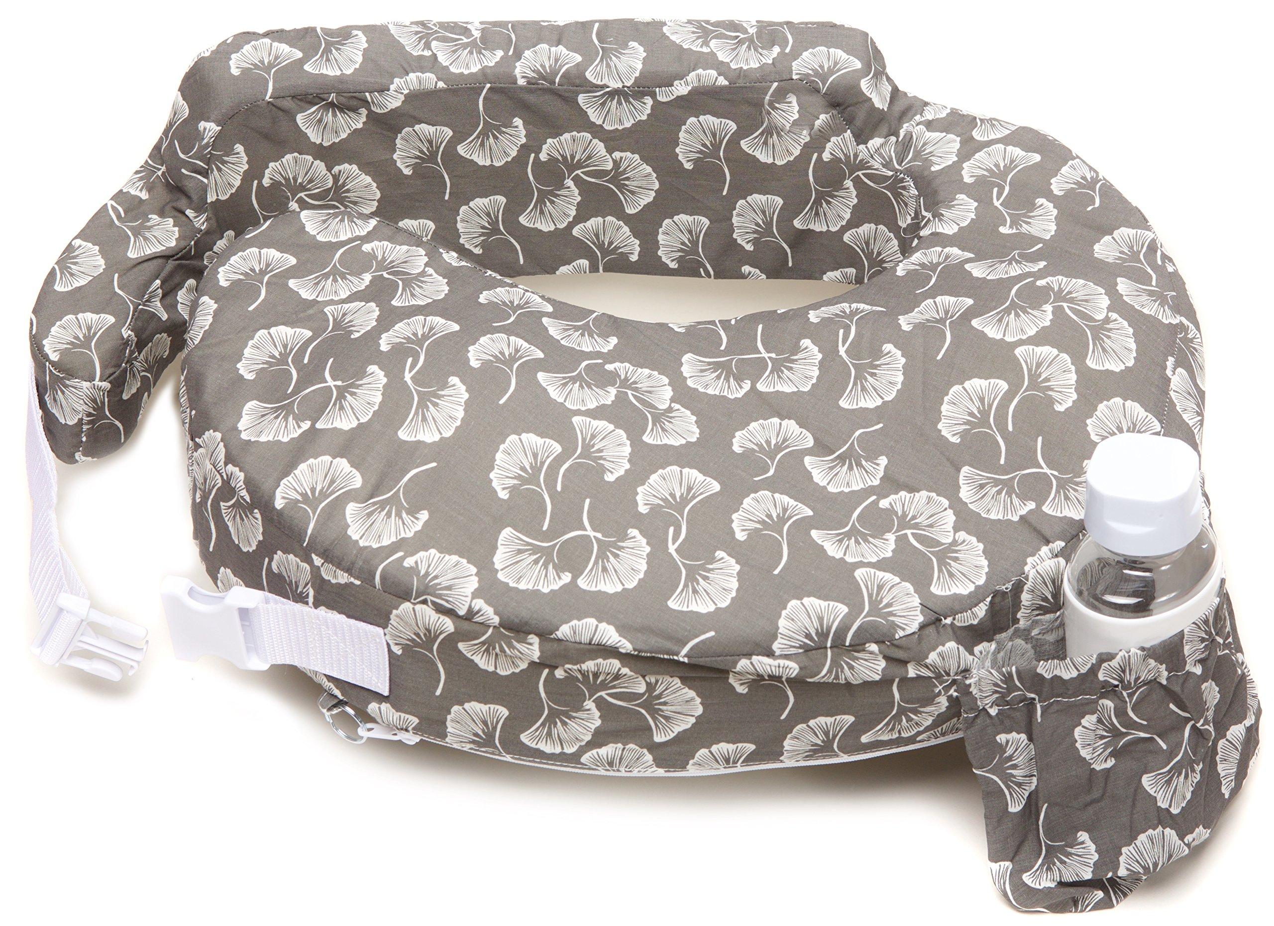 My Brest Friend Original Nursing Posture Pillow, Grey Flowing Fans
