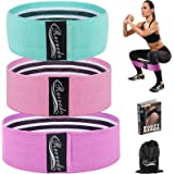 Recredo Booty Bands, Non Slip Resistance Bands for Legs and Butt, Workout Bands Exercise Bands Glute Bands for Women, 3 Pack
