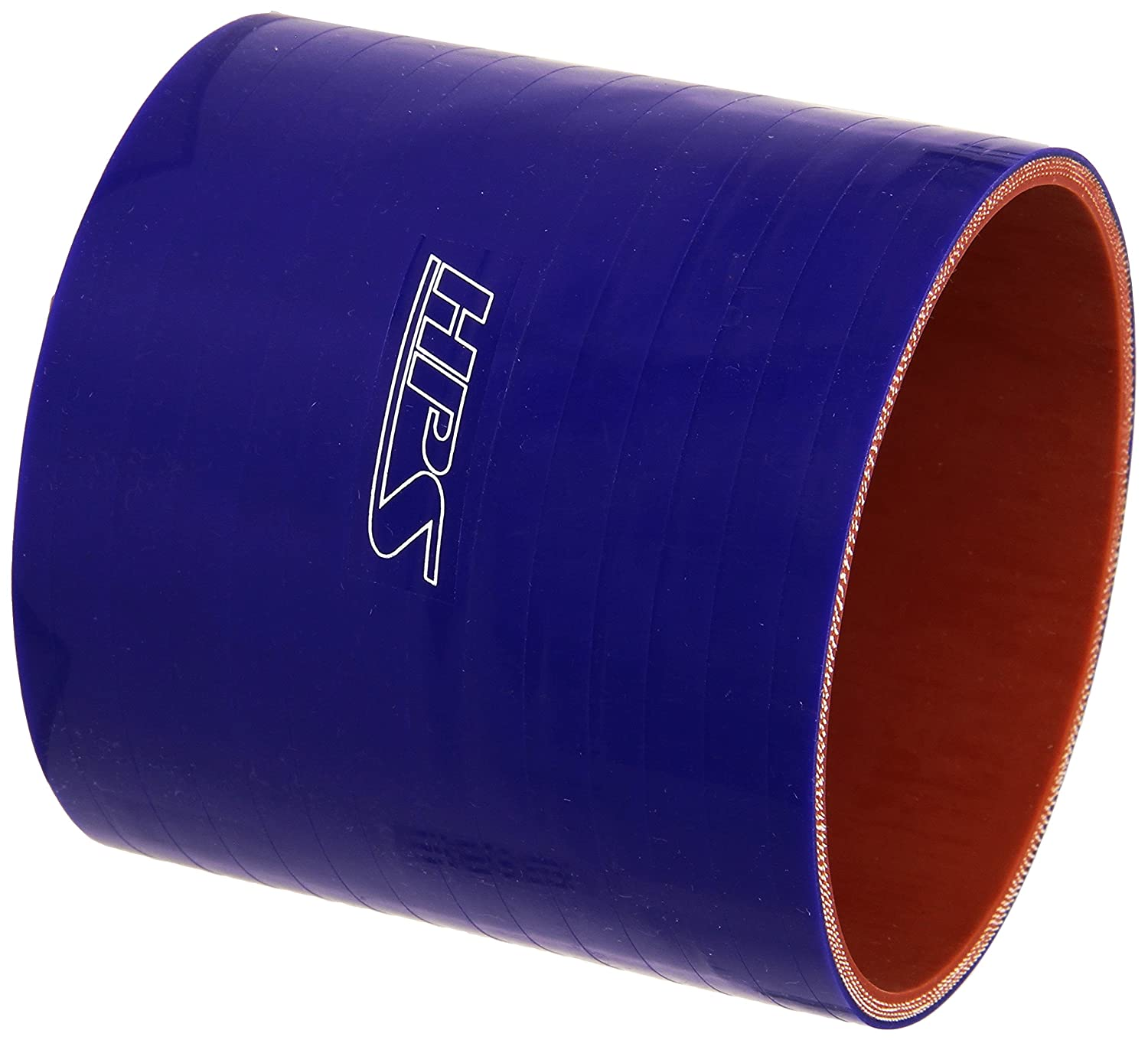 HPS HTSC-400-L4-BLUE Silicone High Temperature 4-ply Reinforced Straight Coupler Hose 4 Length 4 ID 45 PSI Maximum Pressure Blue 4 Length 4 ID HPS Silicone Hoses