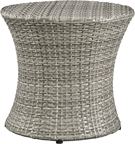 Modway Stage Wicker Rattan Outdoor Patio Side End Table