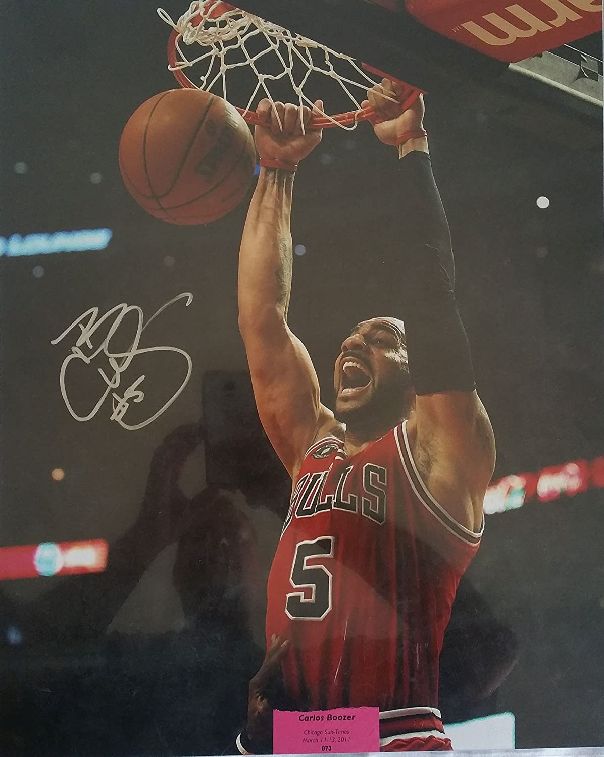 27084f984 Carlos Boozer Signed Autographed Glossy 16x20 Photo - Chicago Bulls at  Amazon s Sports Collectibles Store