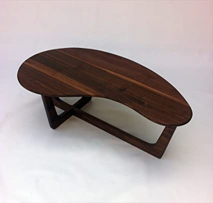 50u0026quot; Kidney Bean Cocktail Table   Mid Century Modern Coffee Table    Solid Walnut