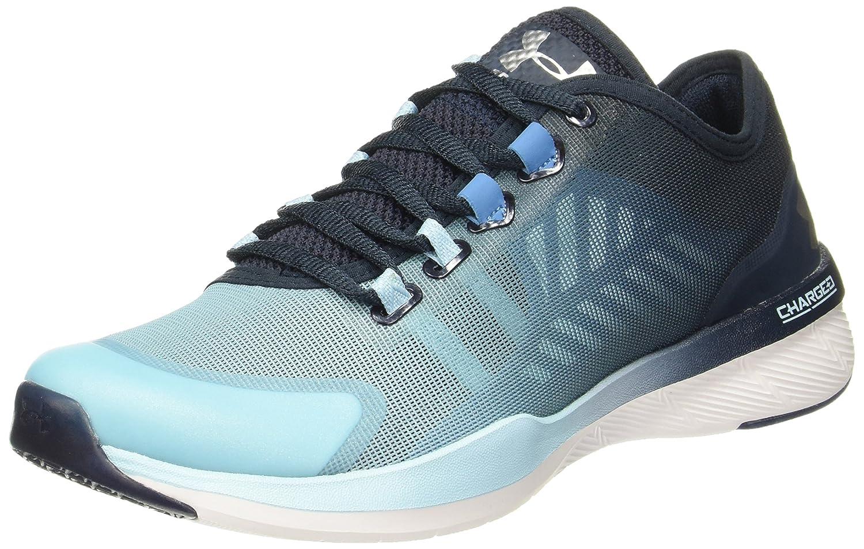 Under Armour Women's Charged Push Cross-Trainer Shoe B01GSOCYWS 9 B(M) US|Chicago Blue/Blue Drift/Metallic Silver