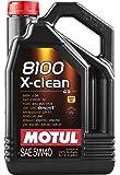 Motul 8100 X-Clean 5W40 Synthetic Oil 5 Liters (102051)