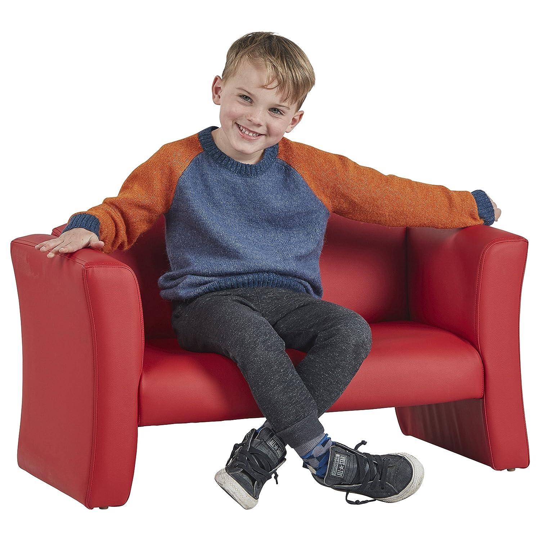 ECR4Kids SoftZone Gum Drop Upholstered Chair for Kids - Daycare, Homeschool, Classroom Furniture, Home Decor - Black ECR4KIDS Education ELR-15670-BK