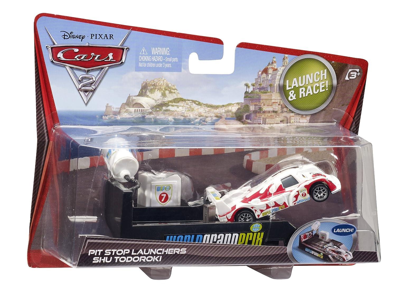 Amazon.com: Disney Pixar Cars 2 Pit Stop Launcher Shu Todoroki: Toys ...