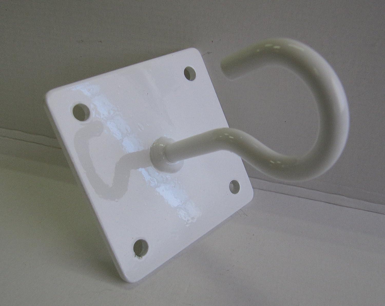 Angope - Gancio aperto per amache, molto resistente, Bianco, permette di appendere amache e altalene a parete o a soffitto, ideale per campeggi, giardini, terrazze e balconi