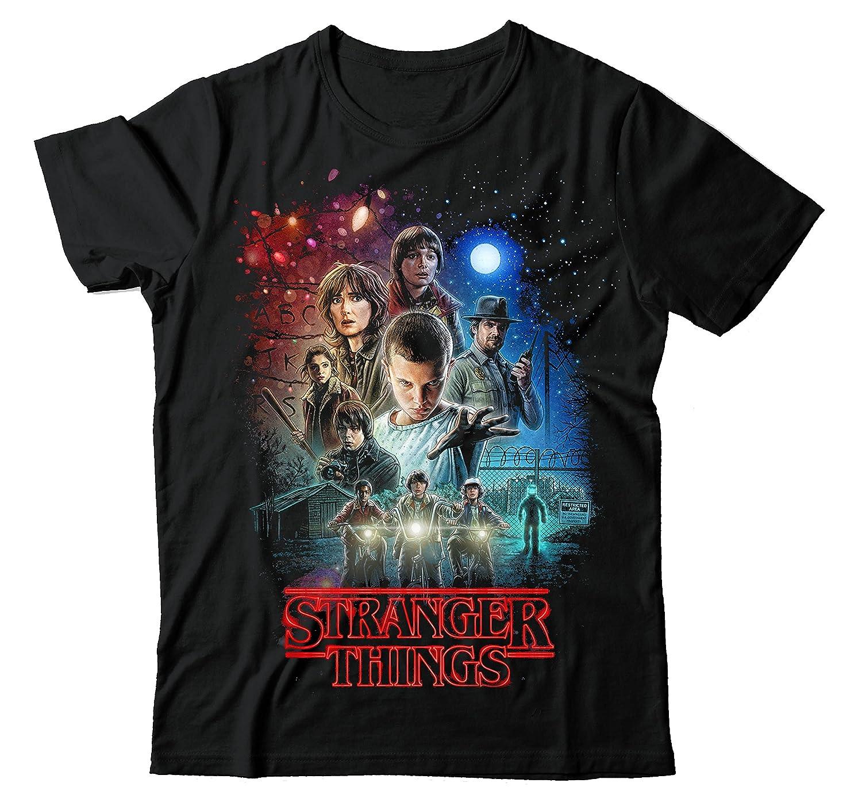 MAJESTIC-GARMZ Stranger Things Netflix Movie Poster Black Unisex T Shirt